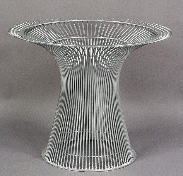 420: WARREN PLATNER WIRE DINING TABLE BASE C.1960