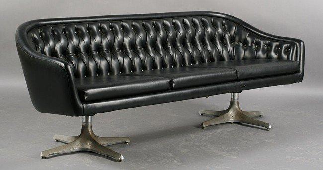 422: MID CENT MODERN CHROMCRAFT SOFA C.1950