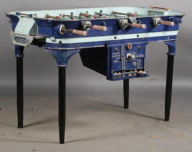 214 vintage cast aluminum foosball table labeled - Used tornado foosball table ...