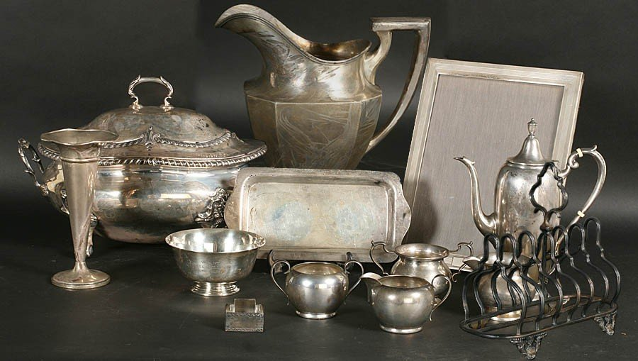 5: LOT OF STERLING SILVER & SILVERPLATE