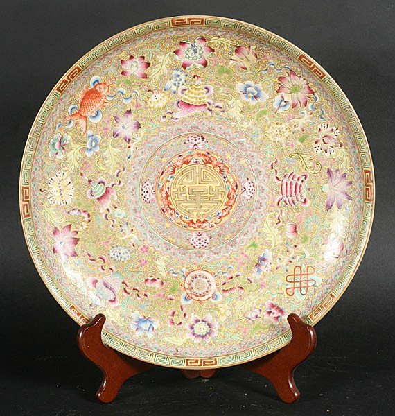 20: PAINTED CHINESE EXPORT CHARGER DAUGUAN MARK