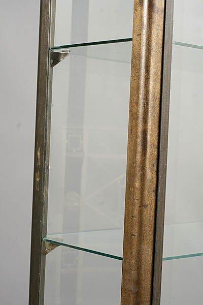 429: METAL VITRINE 2 GLASS FRONT DOORS ART DECO FEET - 4