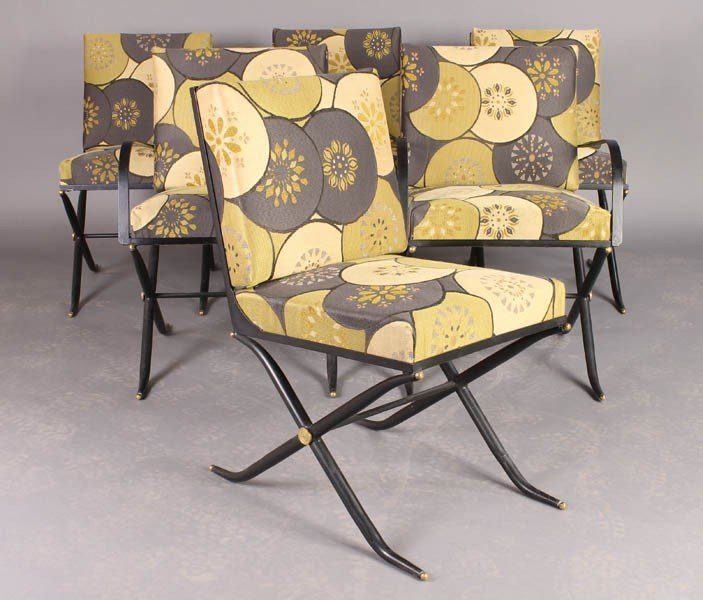 2: SET 6 MODERN DINING CHAIRS UPHOLSTERED BACKS