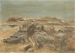 534: KARIN VAN LEYDEN DUTCH OIL PAINTING SIGNED 1939