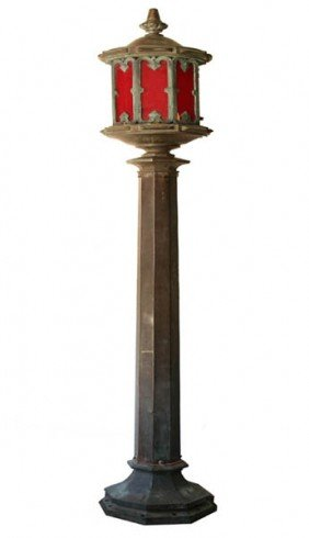 1: LG BRONZE COPPER STREET LIGHT GOTHIC STYLE