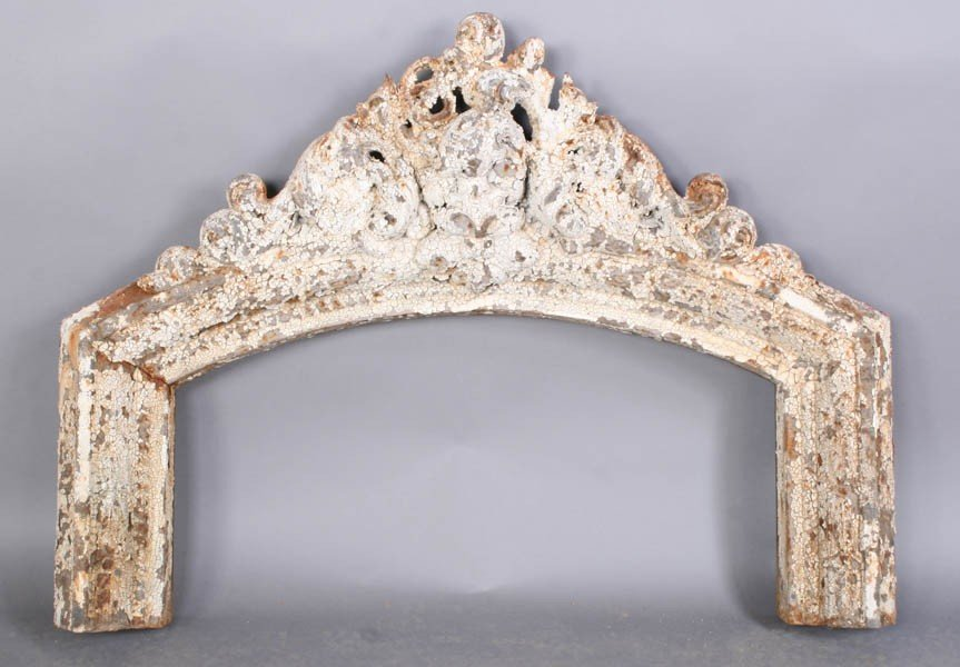 3: 6 PC LOT: 19TH C. ANTIQUE IRON WINDOW CORNICE