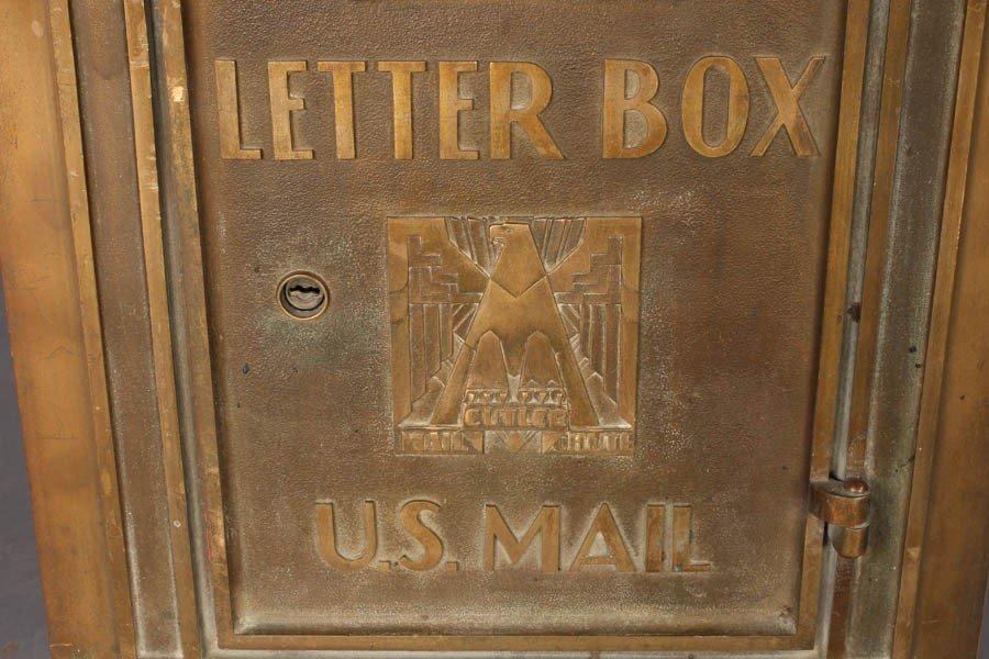 18: ART DECO BRASS CUTLER LETTER BOX EAGLE C. 1930 - 2