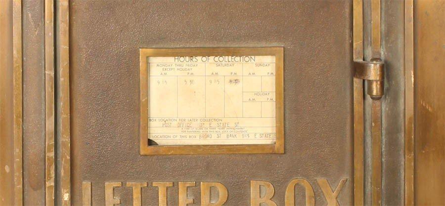 18: ART DECO BRASS CUTLER LETTER BOX EAGLE C. 1930 - 4