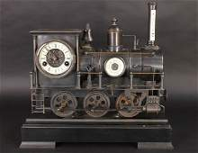 630: FRENCH INDUSTRIAL FIGURAL LOCOMOTIVE CLOCK