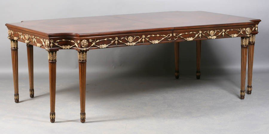 5: LOUIS XVI E.J. VICTOR DINING TABLE 2 LEAVES