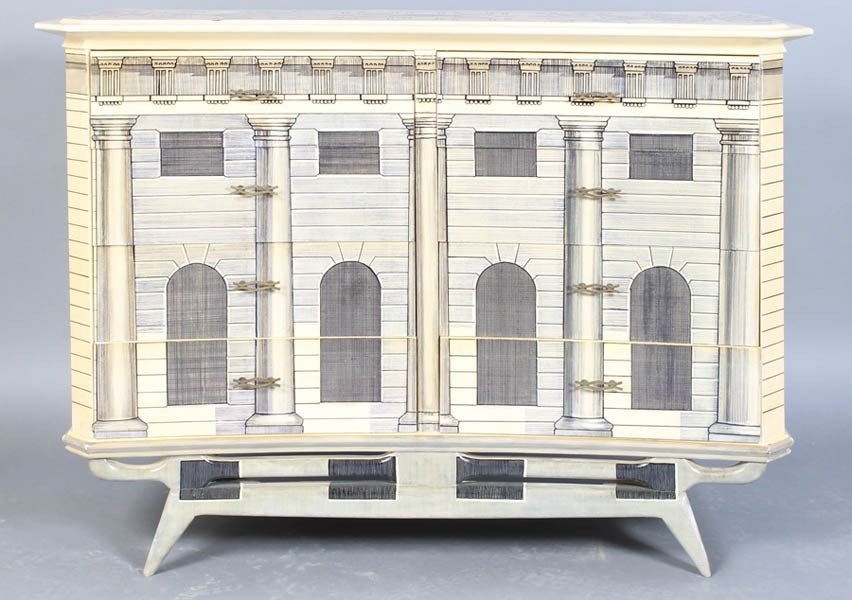 3: FORNASETTI STYLE PAINTED CHEST DRAWERS