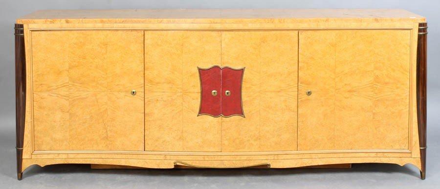 10: FRENCH ART DECO BURLED WALNUT SIDEBOARD C.1940
