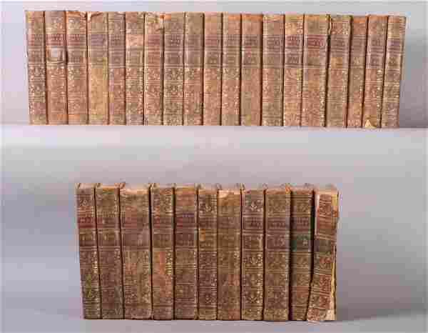 18TH C. ANTIQUE BOOKS SET ROUSSEAU WORKS 31 VOL.