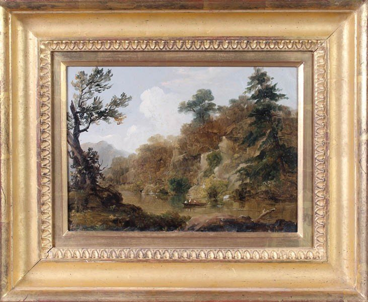 677: WILLIAM THOMPSON RUSSELL SMITH OIL PAINTING WISSA