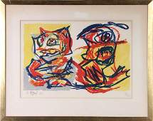 741 KAREL APPEL TWO CATS SIGNED NUMBERED LITHOGRAPH