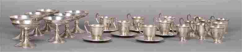 763 28 PC LOT STERLING SILVER CUPS PLATES BOWLS