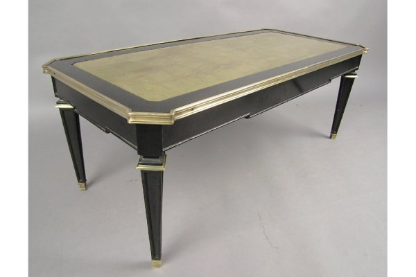 1003 JANSEN EBONIZED AND BRONZE MOUNTED  COFFEE  TABLE
