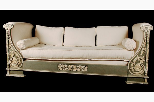 JANSEN POLYCHROMED FRENCH EMPIRE DAYBED CIRCA 1940 I
