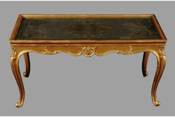 50111006: GILTWOOD MIRRORED TOP COFFEE TABLE WITH IGLOM