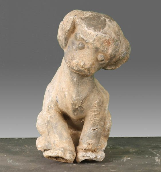 8: CAST LEAD GARDEN DOG ORNAMENT C.1950