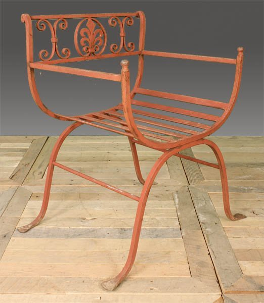 29: WROUGHT IRON GARDEN CHAIR