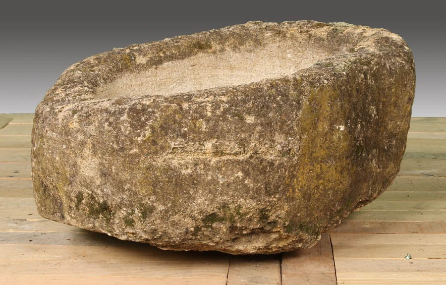67: 19TH CENT. FRENCH CARVED STONE TROUGH
