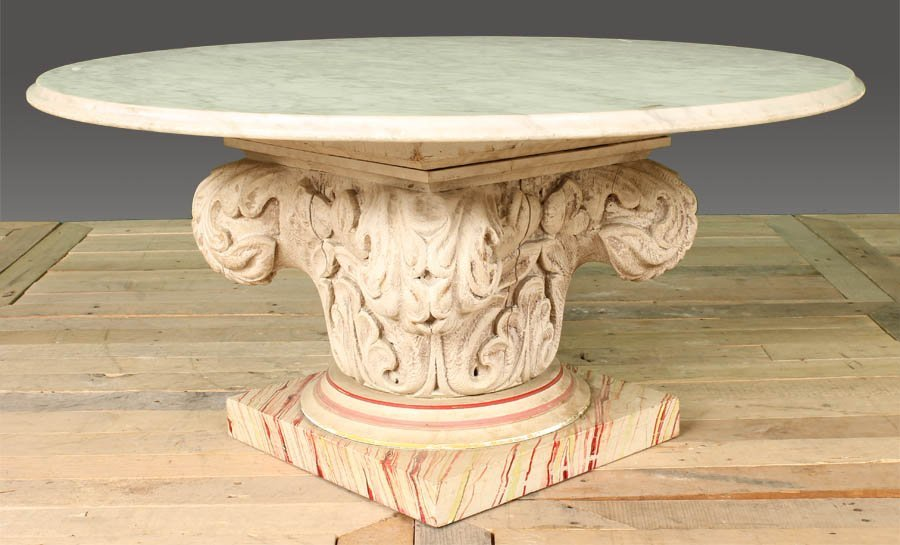 79: DECORATIVE COFFEE TABLE MARBLE TOP