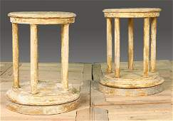 82 PAIR CLASSICAL STYLE WOOD PEDESTALS PAINTED