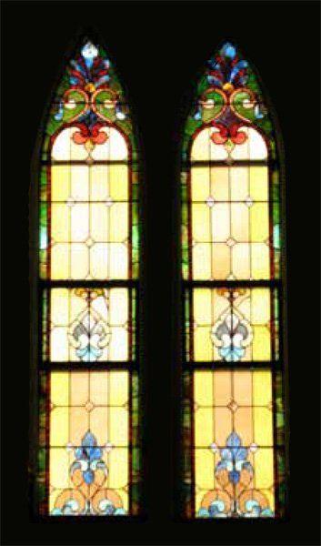 PR VICTORIAN ANTIQUE LEADED STAIN GLASS WINDOWS