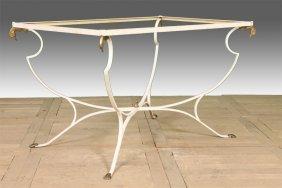 Rectangular Iron Garden Table Base