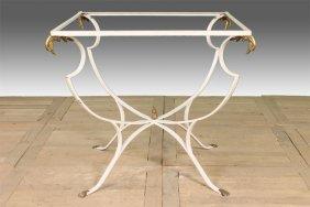 Regency Style Iron Garden Table Base