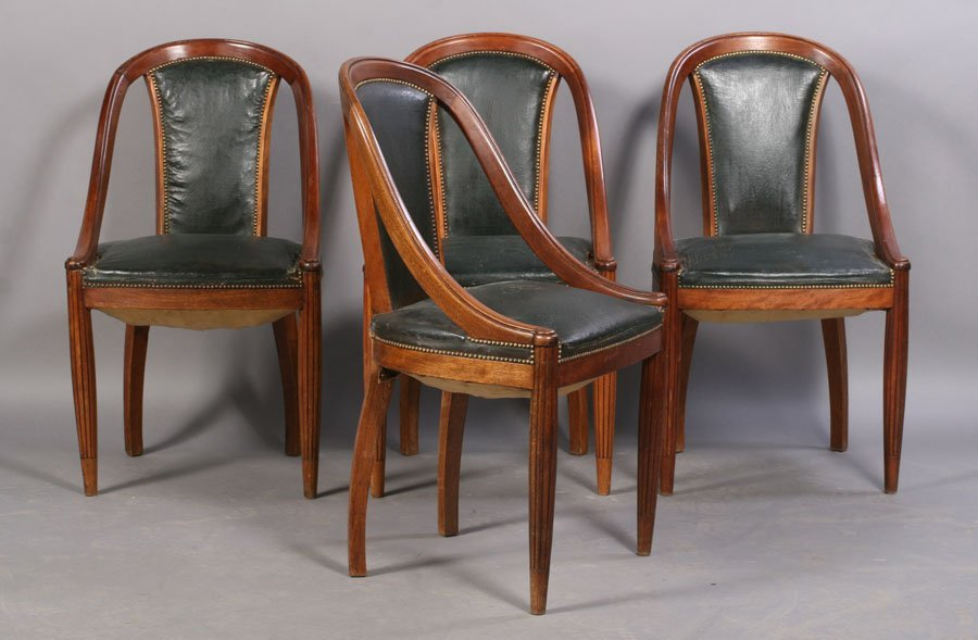 16: SET 4 FRENCH ART DECO CHAIRS