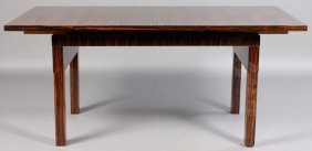 ART DECO MACASSAR DINING TABLE FIGURED