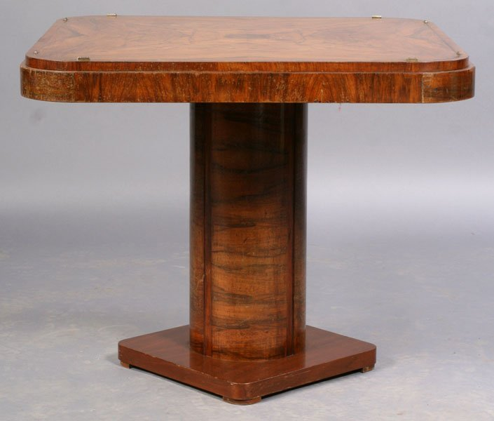 70: ART DECO OCCASIONAL TABLE BURLED TOP