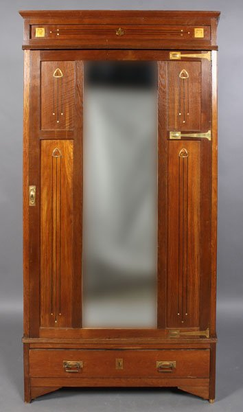 71: SECESSIONIST STYLE ARMOIRE MOTHER PEARL