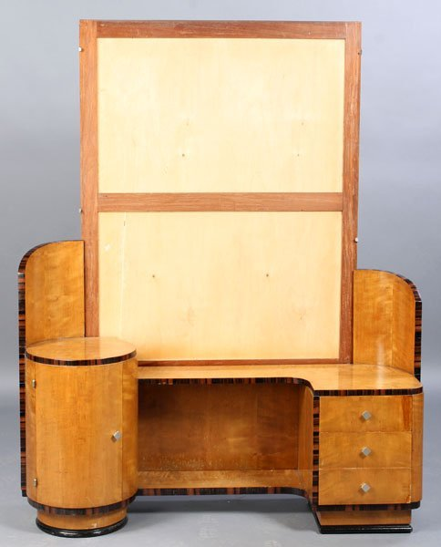 ART DECO MIRRORED BACK DRESSING TABLE