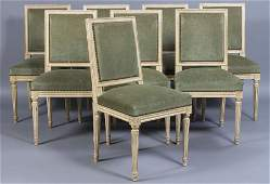 410: SET 8 FRENCH LOUIS XVI STYLE DINING CHAIRS