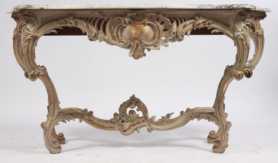13: LATE 19TH CENT. ROCOCO STYLE CONSOLE TABLE