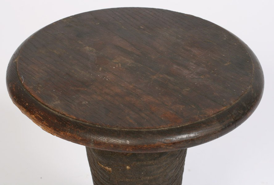542: LATE VICTORIAN ELEPHANT FOOT TAXIDERMY STOOL - 4