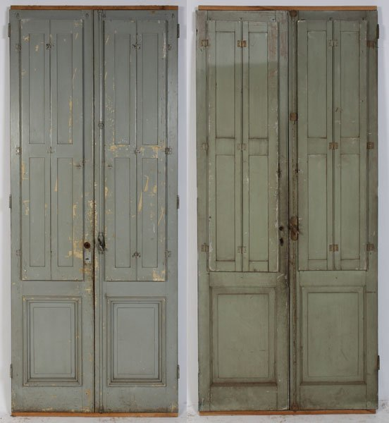 Beautiful 660 2 Prs Antique French Doors C1910 2 Prs Antique French Doors