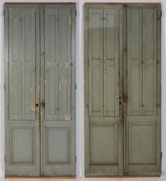 Amazing 660: 2 PRS ANTIQUE FRENCH DOORS C.1910