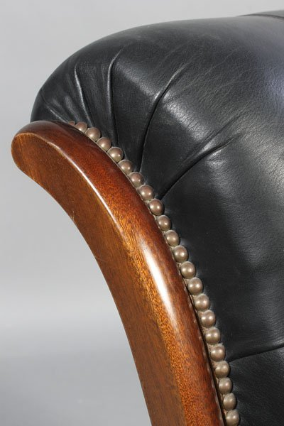 3: PAIR LEATHER CAMPECHE STYLE LOUNGE CHAIRS - 5