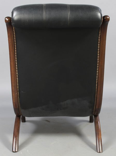 3: PAIR LEATHER CAMPECHE STYLE LOUNGE CHAIRS - 8
