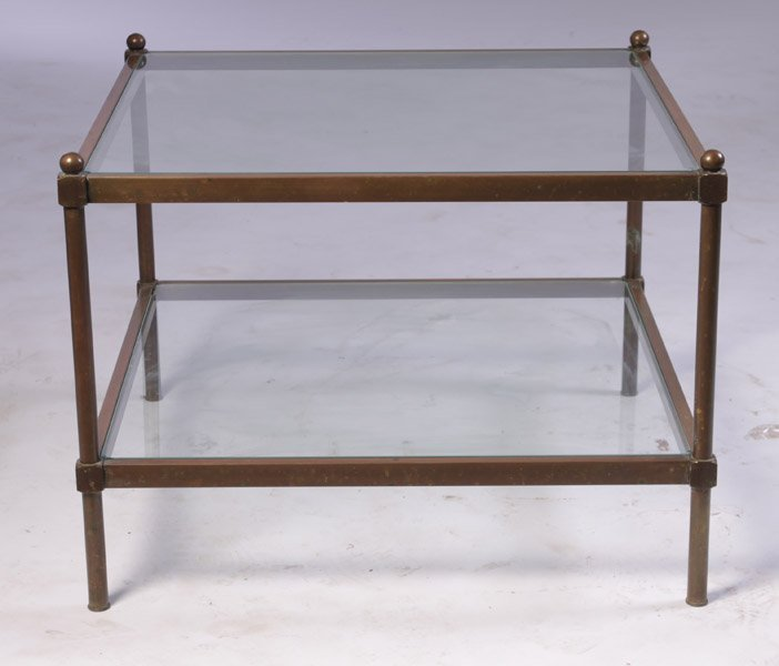 6: BRONZE 2-TIERED COFFEE TABLE C.1970