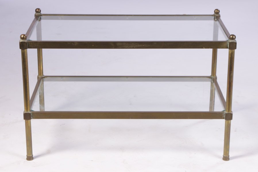 8: 1970S 2-TIERED BRASS COFFEE TABLE