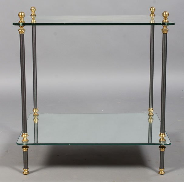 20: DECORATED BRASS AND METAL OCCASIONAL TABLE