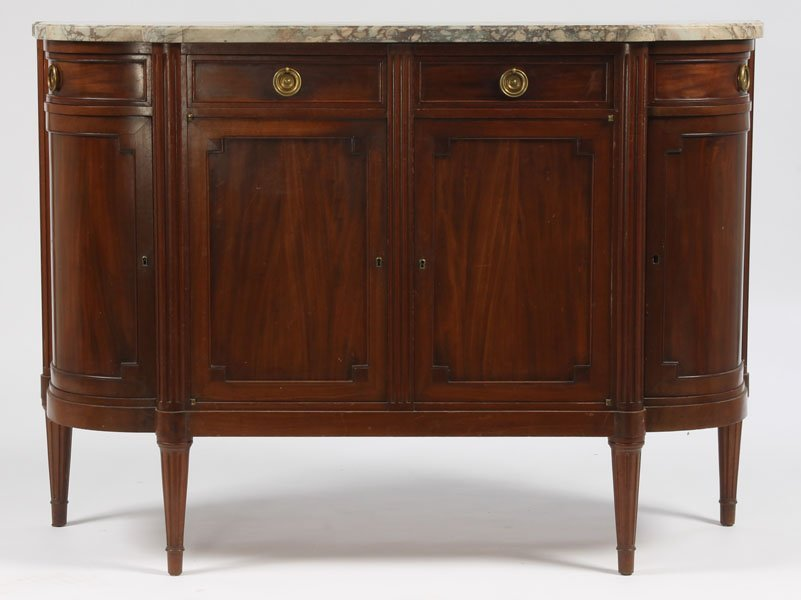 47: ANTIQUE DIRECTOIRE STYLE FRENCH SIDEBOARD