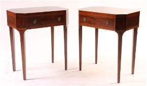 PAIR GEORGE III SCHMEIG & KOTZIAN END TABLES