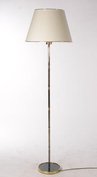 FRENCH 2TONE FLOOR LAMP BLACK METAL BASE