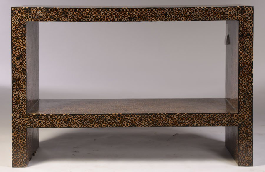 PAINTED BAMBOO CONSOLE TABLE
